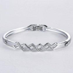Rhombus Rhinestone Hollow Out Bracelet