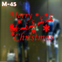 M-45 Small Deer and Snowflake Style Removable Wall Stickers for Christmas Party Ornament -