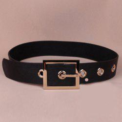 Chic Rectangle Shape Pin Buckle Faux Leather Wide Belt For Women -