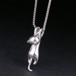 Kitten Shape Pendant Necklace - SILVER