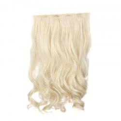 Assorted Color Long Clip-In Capless Trendy Shaggy Wavy Synthetic Hair Extension For Women - PALE BLONDE  613/60#
