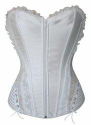 Sexy Strapless Sleeveless Solid Color Laciness Slimming Women's Corset -