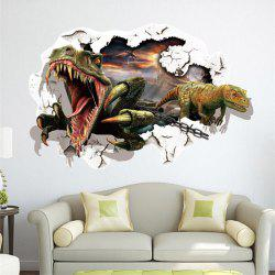 3D Dinosaur Removable Wall Stickers Animals Room Window Decoration - AS THE PICTURE