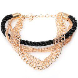 Europe America Electroplate Multilayer Hand Woven Women Bracelet -