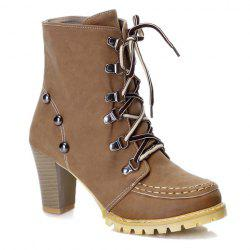 Stylish Metal and Stitching Design Women's Short Boots -