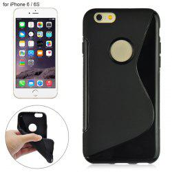 Angibabe Phone Back Case Protector for iPhone 6 / 6S with Round Hole S Design TPU Material