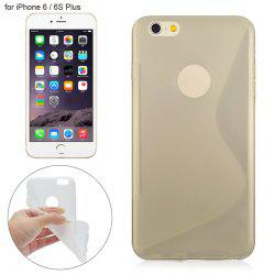 Angibabe Phone Back Case Protector for iPhone 6 / 6S Plus with Round Hole S Design TPU Material -