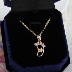 Characteristic Rhinestone Foot Shape Hollow Out Necklace For Women -