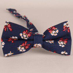 Stylish Flower and Bow Pattern Bow Tie For Men - PURPLISH BLUE