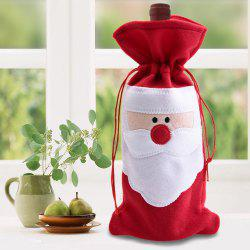 Red Wine Bottle Cover Bags Christmas Table Dinner Decoration Home Party Decors - RED