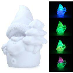 LED Night Light Santa Claus Design Cartoon Lamp Decorative Lighting with Rainbow White Light - SANTA CLAUS