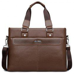 Concise Solid Color and Stitching Design Men's Briefcase -