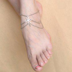 Vintage Chinese Knot Layered Chain Tassel Feet Anklet