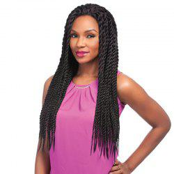 Outstanding Long Black Full Hand Tied Fashion Curly Synthetic Braids Lace Front Wig For Women