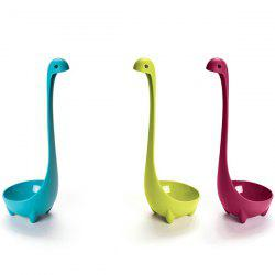 Simple Solid Color Loch Ness Monster Shape Plastic Spoon