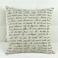 Simple Square Letter Pattern Decorative Pillowcase(Without Pillow Inner) -