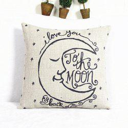 Classical Square Moon Pattern Decorative Pillowcase(Without Pillow Inner) - WHITE AND BLACK