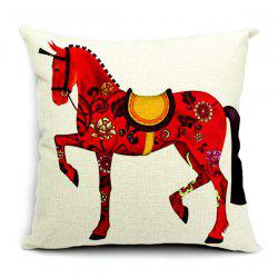 Simple New Left Red Horse Pattern Pillow Case (Without Pillow Inner) -
