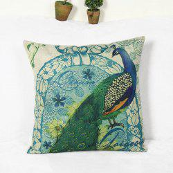 Wholesale Peacock Pattern Home Hold  Decorative Pillow Case -
