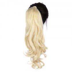Fashion Long Capless Attractive Shaggy Wave Heat Resistant Fiber Ponytail For Women -