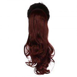 Assorted Color Long Capless Charming Fluffy Wavy Synthetic Ponytail For Women