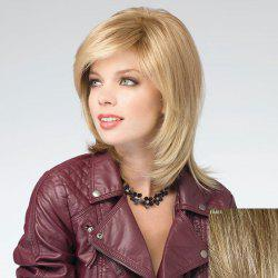 Assorted Color Vogue Medium Capless Stunning Side Bang Natural Straight Human Hair Wig For Women -