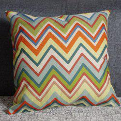 Delicate Square Wave Pattern Linen Pillowcase(Without Pillow Inner)