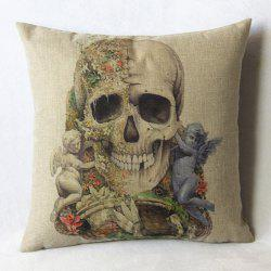 Casual Skull Pattern Decorative Pillowcase(Without Pillow Inner) -