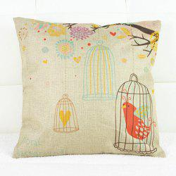 Simple Birdcage Pattern Decorative Pillowcase(Without Pillow Inner)