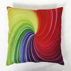 Colorful Square Vortex Pattern Decorative Pillowcase(Without Pillow Inner) -