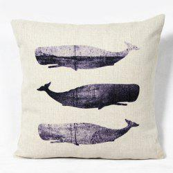 Classical Fish Pattern Square Decorative Pillowcase(Without Pillow Inner) - COLORMIX