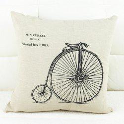 Modern Bicycle Pattern Square Decorative Pillowcase (Without Pillow Inner)