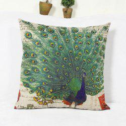 Classical Peacock  Pattern Home Hold  Decorative Pillow Case -
