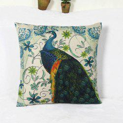Wholesale Peacock and  Blossom Pattern Home Hold  Decorative Pillow Case - AS THE PICTURE