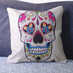 Fashion Square Skull Pattern Decorative Pillowcase(Without Pillow Inner) - COLORMIX