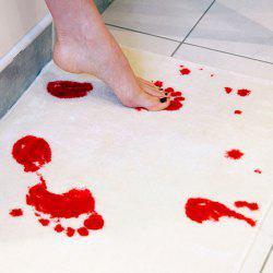 Water Absorption Non Slip Cool Decorative Bathroom Rug - RED WITH WHITE
