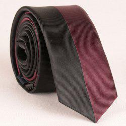 Stylish Two Color Matching Striped Tie For Men - WINE RED