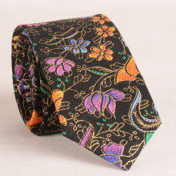 Stylish Flower and Polka Dot Print 6CM Width Tie For Men -