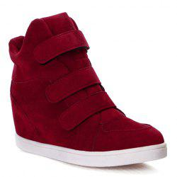 Concise Round Toe and Suede Design Women's Athletic Shoes -