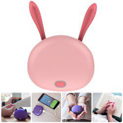 2 in 1 Multi-Purpose Animal Shaped Digital Hand Warmer Portable USB Rechargeable Pocket Bank for Indoor Outdoor Sports - PINK