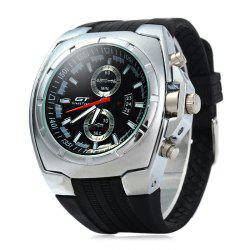GT Male Decorative Sub-dials Quartz Watch with Double Scales -