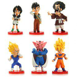 6Pcs Dragon Ball PVC Action Figure Janpanese Anime Character Model Kid Gift