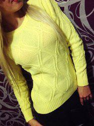 Simple Round Collar Long Sleeve Pure Color Women's Sweater