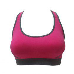 Seamless Shockproof Yoga Push Up Striped Sports Bra