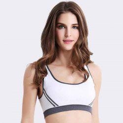 Seamless Underwear No Rim Yoga Striped Sports Bra