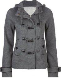 Wool Blend Duffle Hooded Coat