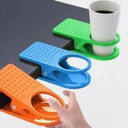 Chic Big Deskside Cup Clip Mug Holder House Using Table Tableware - RANDOM COLOR