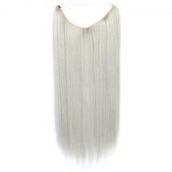 Assorted Color Trendy Glossy Straight Heat Resistant Fiber Long Capless Women's Hair Extension