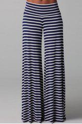 Stylish Black and White Striped Casual Women's Palazzo Pants