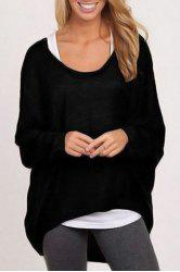 Casual Style Scoop Neck Long Sleeve Pure Color Loose Women's T-Shirt